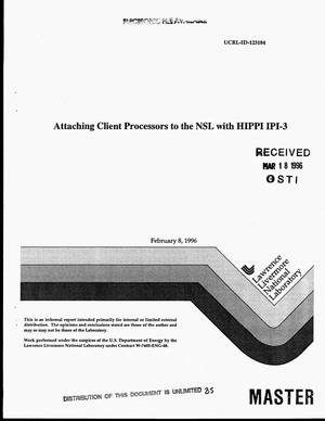 Primary view of object titled 'Attaching client processors to the NSL with HIPPI IPI-3'.