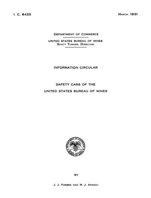 Primary view of object titled 'Safety Cars of the United States Bureau of Mines'.
