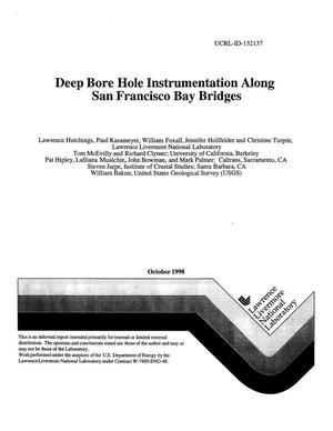 Primary view of object titled 'Deep bore hole instrumentation along San Francisco Bay Bridges'.
