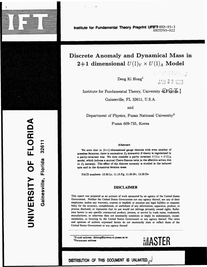 Discrete anomaly and dynamical mass in 2+1 dimension U(1