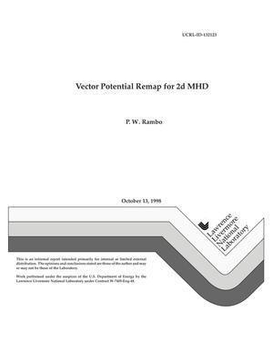Primary view of object titled 'Vector potential remap for 2d MHD'.