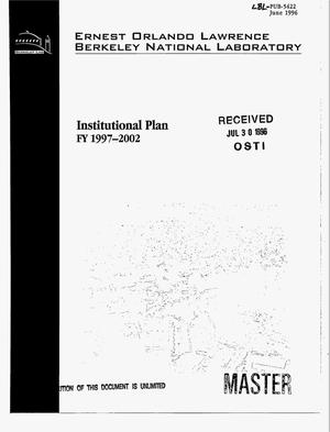 Primary view of object titled 'Institutional plan. FY 1997-2002'.