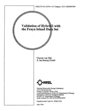 Primary view of object titled 'Validation of Hybrid2 with the Froya Island data set'.