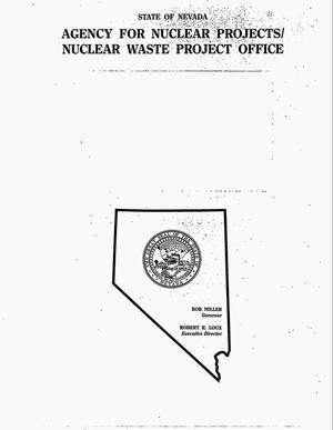 Primary view of object titled 'Bibliography of publications related to Nevada-sponsored research of the proposed Yucca Mountain high-level radioactive waste repository site through 1994'.