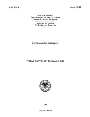 Primary view of object titled 'World Survey of Tantalum Ore'.
