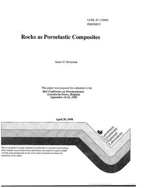 Primary view of object titled 'Rocks as poroelastic composites'.