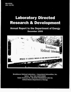 Primary view of object titled 'Laboratory Directed Research & Development program. Annual report to the Department of Energy'.