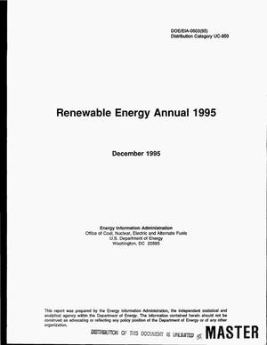 Primary view of object titled 'Renewable energy annual 1995'.