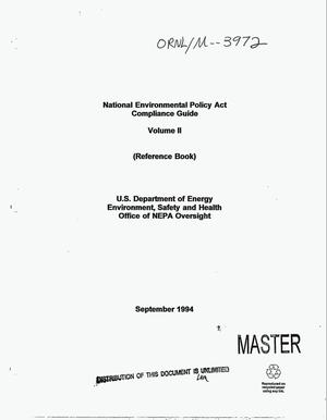 Primary view of object titled 'National Environmental Policy Act compliance guide. Volume II (reference book)'.
