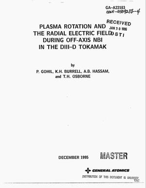 Primary view of object titled 'Plasma rotation and the radial electric field during off-axis NBI in the DIII-D tokamak'.