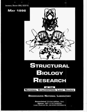 Primary view of object titled 'Structural biology research at the National Synchroton Light Source'.