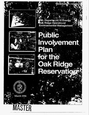Primary view of object titled 'US Department of Energy Oak Ridge Operations Environmental Management Public Involvement Plan for the Oak Ridge Reservation'.