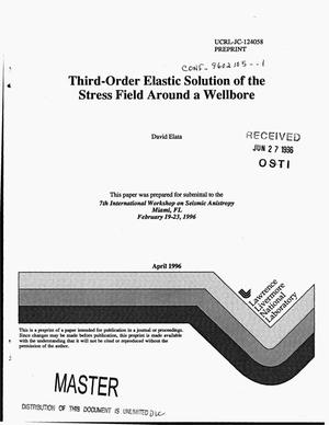 Primary view of object titled 'Third-order elastic solution of the stress field around a wellbore'.