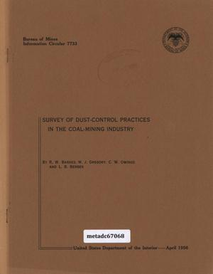 Primary view of object titled 'Survey of Dust-Control Practices in the Coal-Mining Industry'.