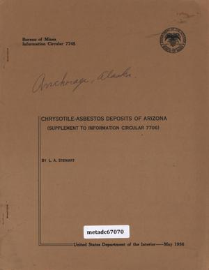 Primary view of object titled 'Chrysotile-Asbestos Deposits of Arizona: Supplement to Information Circular 7706'.