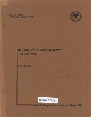 National Motor-Gasoline Survey: Summer 1955