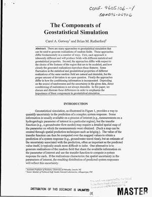 Primary view of object titled 'The components of geostatistical simulation'.
