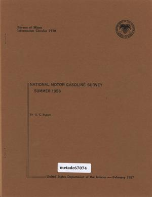 Primary view of object titled 'National Motor-Gasoline Survey: Summer 1956'.