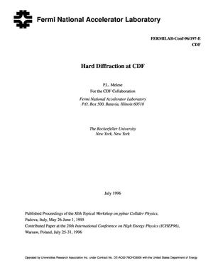 Primary view of object titled 'Hard Diffraction at CDF'.
