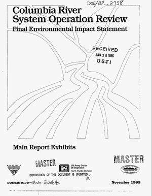 Primary view of object titled 'Columbia River System Operation Review : Final Environmental Impact Statement, Main Report Exhibits.'.