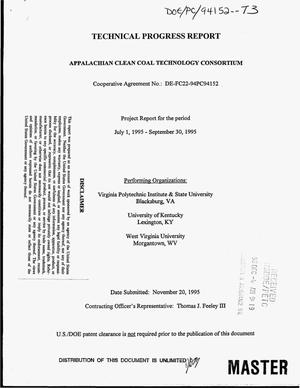 Primary view of object titled 'Appalachian clean coal technology consortium. Quarterly report, July 1, 1995--September 30, 1995'.