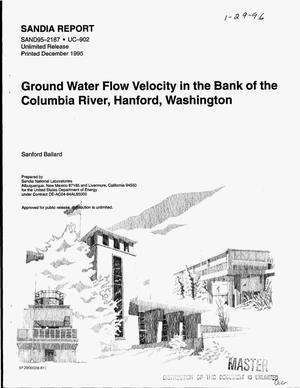 Primary view of object titled 'Ground water flow velocity in the bank of the Columbia River, Hanford, Washington'.