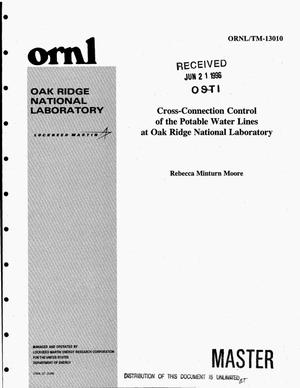 Primary view of object titled 'Cross-connection control of the potable water lines at Oak Ridge National Laboratory'.