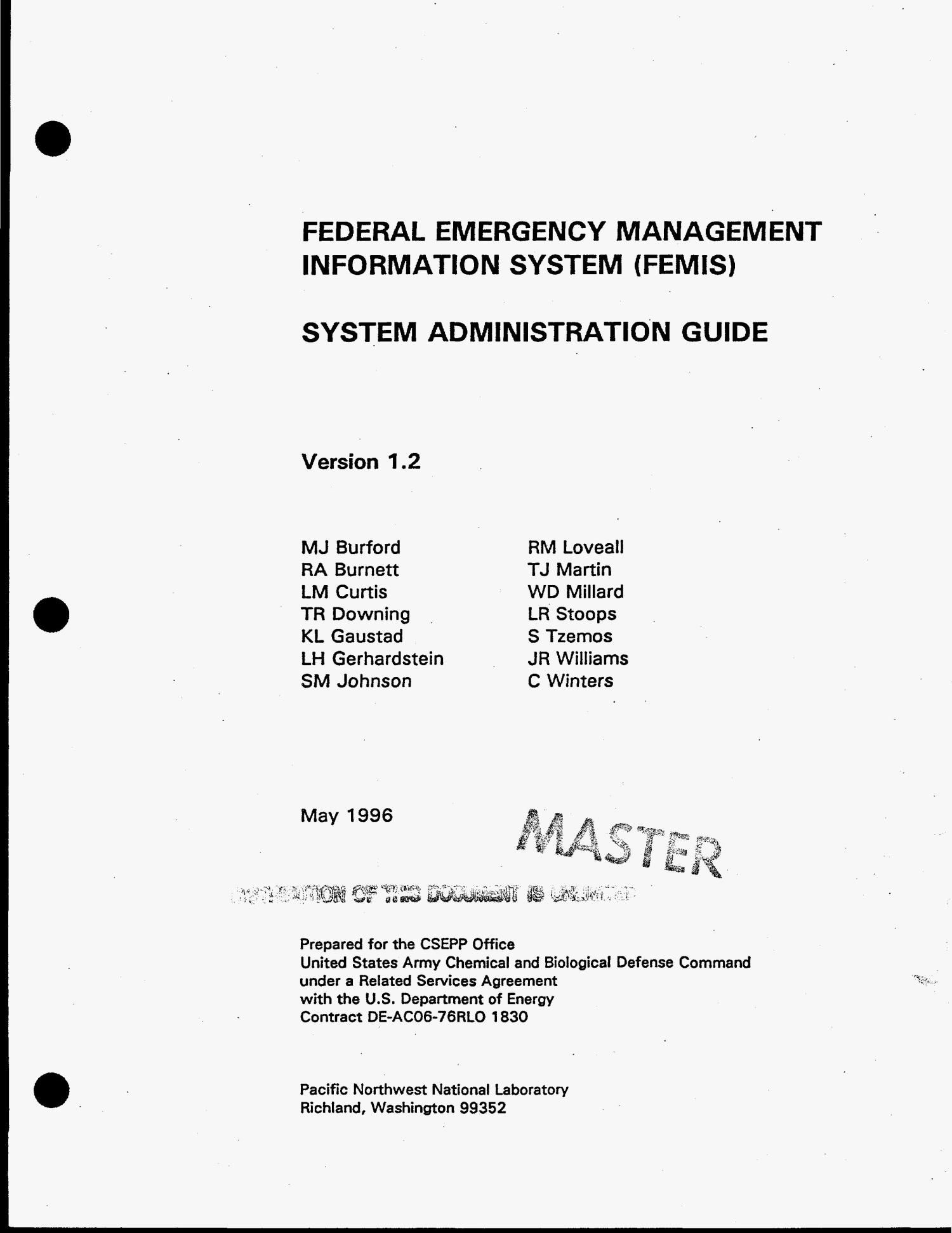 Federal Emergency Management Information System (FEMIS) system administration guide. Version 1.2                                                                                                      [Sequence #]: 2 of 226