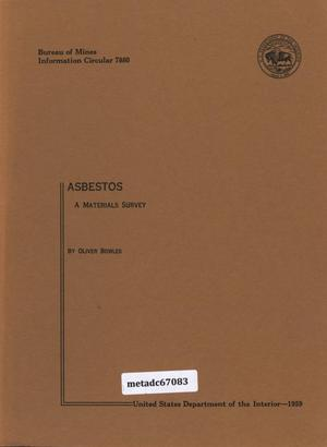 Primary view of object titled 'Asbestos: A Materials Survey'.