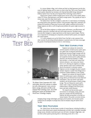 Primary view of object titled 'Hybrid Power Test Bed'.