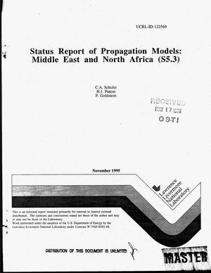 Primary view of object titled 'Status report of propagation models: Middle East and North Africa (S5.3)'.