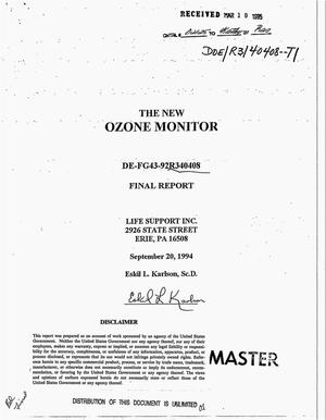 Primary view of object titled 'The new ozone monitor. Final report'.
