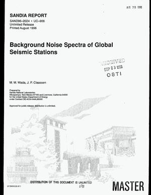 Primary view of object titled 'Background noise spectra of global seismic stations'.
