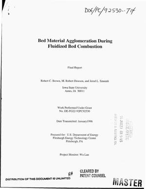 Primary view of object titled 'Bed material agglomeration during fluidized bed combustion. Final report'.