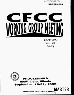 Primary view of object titled 'CFCC working group meeting: Proceedings'.