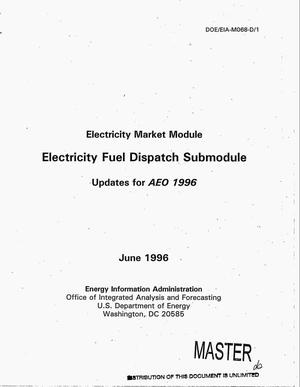 Primary view of object titled 'Electricity market module: Electricity fuel dispatch submodule'.