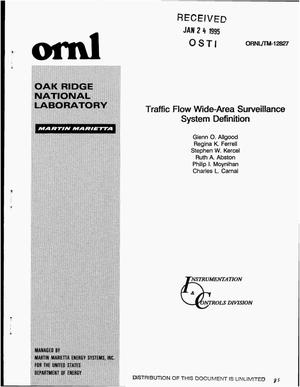 Primary view of object titled 'Traffic flow wide-area surveillance system definition'.