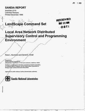 Primary view of object titled 'LandScape Command Set: Local Area Network Distributed Supervisory Control and Programming Environment'.