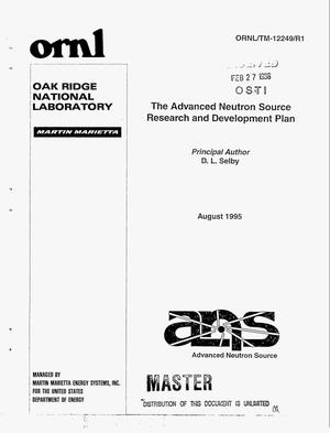 Primary view of object titled 'The advanced neutron source research and development plan'.