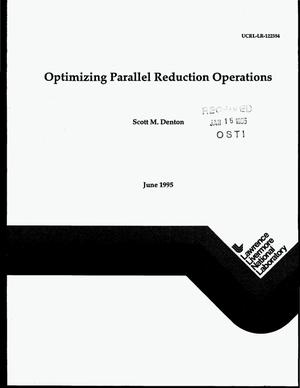 Primary view of object titled 'Optimizing parallel reduction operations'.