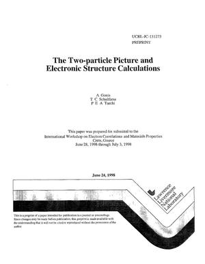 Primary view of object titled 'Two-particle picture and electronic structure calculations'.