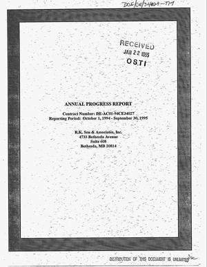Primary view of object titled '[1995 annual report on activity performed for the Advanced Utility Concepts Division]. Annual progress report, October 1, 1994--September 30, 1995'.