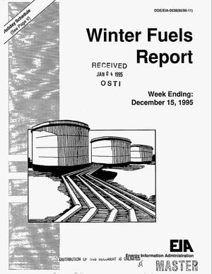 Primary view of object titled 'Winter fuels report. Week ending: December 15, 1995'.
