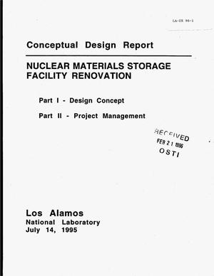 Primary view of object titled 'Conceptual design report: Nuclear materials storage facility renovation. Part 1, Design concept. Part 2, Project management'.