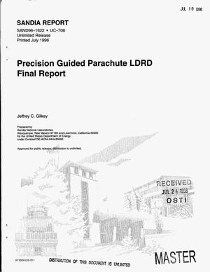 Primary view of object titled 'Precision guided parachute LDRD final report'.