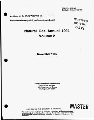Primary view of object titled 'Natural gas annual 1994: Volume 2'.