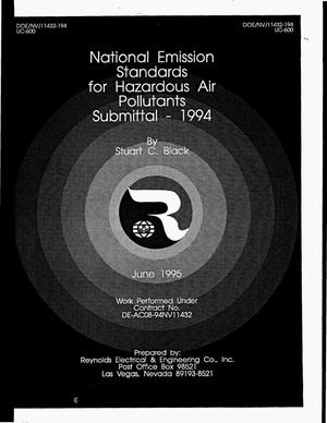 Primary view of object titled 'National Emission Standards for Hazardous Air Pollutants submittal -- 1994'.