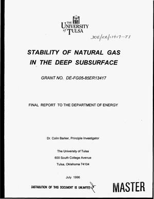 Primary view of object titled 'Stability of natural gas in the deep subsurface'.