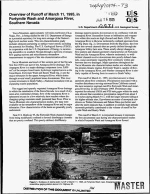 Primary view of object titled 'Overview of runoff of March 11, 1995, in Fortymile Wash and Amargosa River, Southern Nevada'.