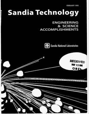 Primary view of object titled 'Sandia Technology: Engineering and science accomplishments, February 1995'.